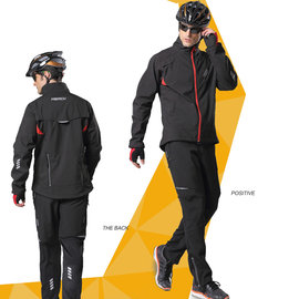 ~ 百分百~防風加厚 長袖套裝 男款 自行車衣 腳踏車衣 單車服 騎行服 車衣車褲長套裝