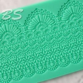 MS0100_002Q 皇后蕾絲矽膠模 ^(大尺寸39^~11^)、蕾絲模、翻糖花紋墊、大
