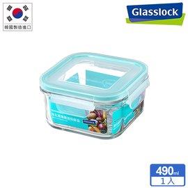Glasslock強化玻璃微波保鮮盒 - 方形490ml