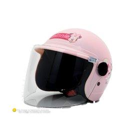 桃紅色~EVC~002兒童附鏡片半罩安全帽_Disney Minnie 米妮 安全帽_兒童