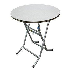 3X3尺圓型折合式A型餐桌 ^(灰白^)