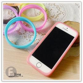 【Q禮品】B2720  環狀果凍矽膠手機套/手機邊框/止滑/手機保護殼/手機套/矽膠手環/iphone5 6 plus