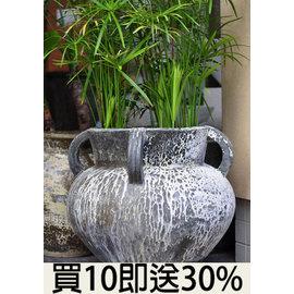~山林 石材資材量販~落灰陶 花器 花盆 ^~ 碗 缽 鵝卵石 石材 庭園 造景 盆栽 景