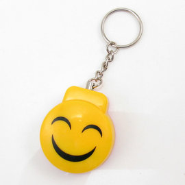 迷你隨身鑰匙圈防搶警報器 超高分貝防狼警報器 老人呼叫器 可愛笑臉