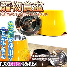 美國~SUPER休普高腳不鏽鋼兩用狗碗M號直徑22cm
