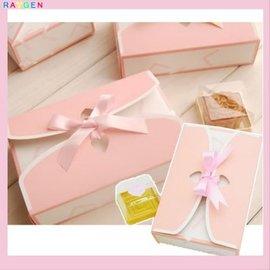 粉色柔美簡約風63-80g六粒 月餅盒 伴手禮盒 餅乾盒 西點盒 包裝盒 餅乾盒 【HH婦幼館】