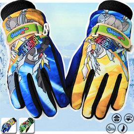 卡通印花兒童防風透氣手套E003-KOREA (男女騎士機車防滑防水手套.戶外騎行摩托車自行車保暖防寒耐磨滑雪手套.防曬防晒運動保護手套)