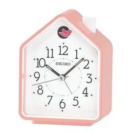 SEIKO CLOCK 精工 擇式鈴聲 兩組鳥鳴 BB聲  森林原音 粉紅屋 鬧鐘 :QH