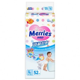 妙而舒 Merries 舒爽 紙尿褲 尿布 L52 片 包
