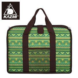 丹大戶外~KAZMI~ 民族風折疊桌收納袋^(單口爐收納袋^) 綠色 折疊桌收納袋 雙口爐