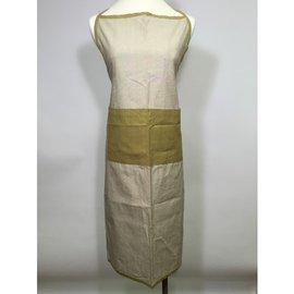 純棉Chambray圍裙 綠色  英式鄉村風,印度 布織品