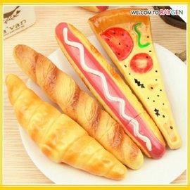 文具 披薩熱狗牛角麵包食物造型圓珠筆 冰箱貼【HH婦幼館】