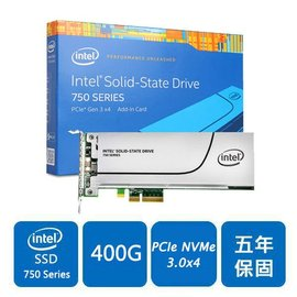 Intel 750~SSDPEDMW400G4X1^(PCIe介面^) SSD固態硬碟