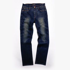 金藤中腰修身直筒牛仔褲
