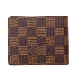 Louis Vuitton LV N61208 Slender 棋盤格紋雙折短夾  價 1