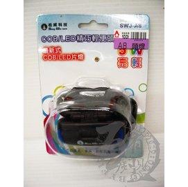 ◎百有釣具◎台灣品牌 松威科技 SWJ-A8 COB/LED 精巧輕便頭燈 (5W)三段式調光