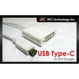 ~HPC~USB 3.1 Type~C 轉 DVI母 高畫質影像影音轉接線 apple M