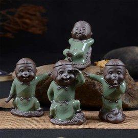 5Cgo~ 七天交貨~ 523841931816 哥窯開片猴子茶寵擺件猴年大吉茶桌 齊天大
