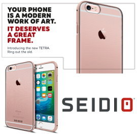 SEIDIO 2016新款TETRA iPhone6 Plus iPhone 6S Plus 5.5吋 極簡 金屬邊框 透明背蓋 保護殼 背面透明殼包覆