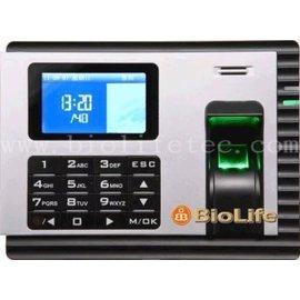 AU~01彩色指紋機 單機指紋機  取代傳統打卡鐘 自動產生報表,不需學軟體,15分鐘設定