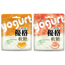 ~植物的優~優格軟糖~水蜜桃35g^(48包整箱販售^~贈比菲多益生菌軟糖原味30g^~1