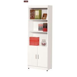 ~台北家福~^(FX605~3^) 白色2尺開放雙門書櫃