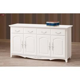 ~台北家福~^(FX820~3^) 卡蜜拉白色5.3尺碗碟櫃  櫃下座