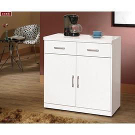 ~台北家福~^(FX824~6^) 祖迪白色2.7尺雙門碗碟櫃  櫃下座