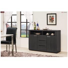 ~台北家福~^(FX829~3^) 米樂黑鐵刀4尺餐櫃 碗盤櫃