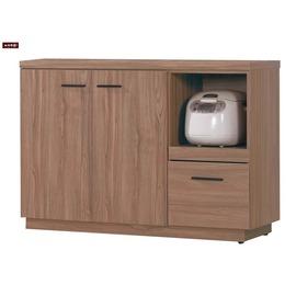 ~台北家福~ FH252~4 比提4尺柚木色餐櫃 碗盤櫃下座
