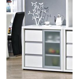 ~台北家福~ FH254~1 羽田2.7尺白色鋁框推門餐櫃 碗盤櫃下座