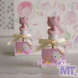 ~摩登香氛~Hello Kitty收集可愛擴香瓶含精油8ml補充油 粉紅色是花香果(蜜桃女