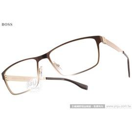 HUGO BOSS 光學眼鏡 HB0673S UAL99 ^(漸層棕~金^) 名品 雅致休