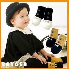 秋冬季時尚 領結款兒童短襪 嬰兒寶寶襪子短襪 膠底防滑 兒童襪 【HH婦幼館】