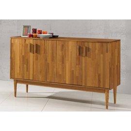 ~尚品 ~JF~404~1 杜克5尺柚木色餐櫃