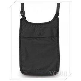 【澳洲 Pacsafe】Coversafe S75 隱藏護照袋《親膚款》貼身防盜包.隱藏式錢包.前胸式護照包.頸掛袋.皮包 PE203BK