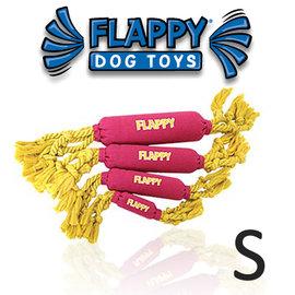 美國FLAPPY玩耍 ~FLOSSY FLAPPY草莓香蕉 S號~甩甩啾啾.棉繩狗玩具