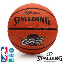 【斯伯丁SPALDING】NBA 球員球系列15'騎士隊 詹姆士 LeBron James 7號籃球.室外一般等級球款(橡樛)#7 / 適合各種室外場地SPA83227r