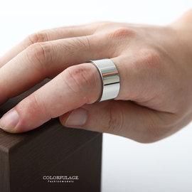 戒指 素面拋光寬版 鋼製指環 簡約弧型 柒彩年代~NC183~不造作