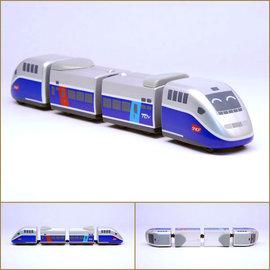 ~TRC 鐵道故事館╱ ~~法國高鐵TGV~迴力小列車╱鐵支路 貨╱ 壓克力盒裝╱全省 門