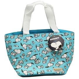 ~卡漫屋~ 史努比 保溫袋 束口 滿版 水藍 ㊣版 史奴比 手提袋 Snoopy 保冷 保