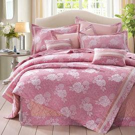 奧斯汀寢飾~CAQ1509 瑰麗典雅~七件式床罩組 ~ 製~咖啡紗 60支棉立體玫瑰鋪棉車