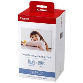 Canon KP~108IN 4x6相片紙含色帶^~108張