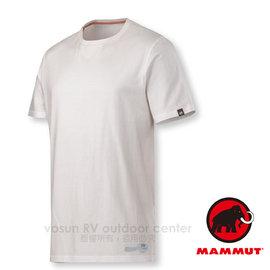 【瑞士 MAMMUT 長毛象】男 Massone T-Shirt 輕量機棉防曬短袖T恤(僅180g)/素T.抗菌吸汗透氣/適休閒登山健行_白 06180-0243
