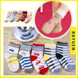 兒童襪子 尼森全棉 卡通防滑 小童襪 嬰兒襪 寶寶襪子【HH婦幼館】