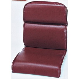 ~HC242~15~雙層皮坐墊^(紅木色^)