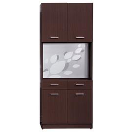 ~HC352~01~克萊兒胡桃2.7尺玄關屏風雙面鞋櫃