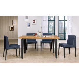 ~HC413~01~馬丁4.3尺全實木面黑腳餐桌