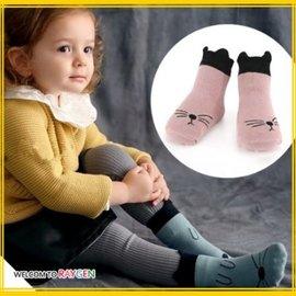 襪子 卡通線條立體耳朵防滑襪 短襪【HH婦幼館】
