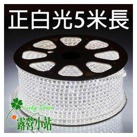大林小草~【HC805-5】露營專用LED 5050加寬防水燈條附收納袋(5米長附插頭)-正白光